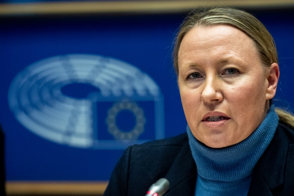 BELGIUM , BRUSSELS , NOV. 20, 2018 - GLOBE EU High Level Conference - Missing Links in the Evolution of Sustainable Finance - Lisa Beauvilain Copyright Danny Gys