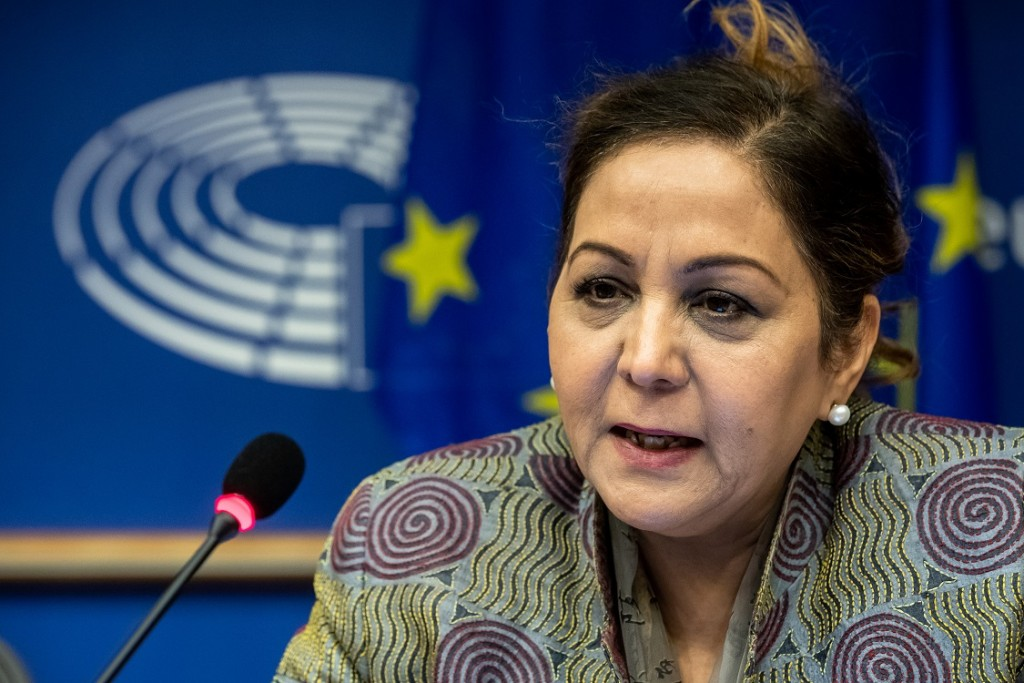 BELGIUM , BRUSSELS , NOV. 20, 2018 - GLOBE EU High Level Conference - Missing Links in the Evolution of Sustainable Finance - Neena Gill Copyright Danny Gys