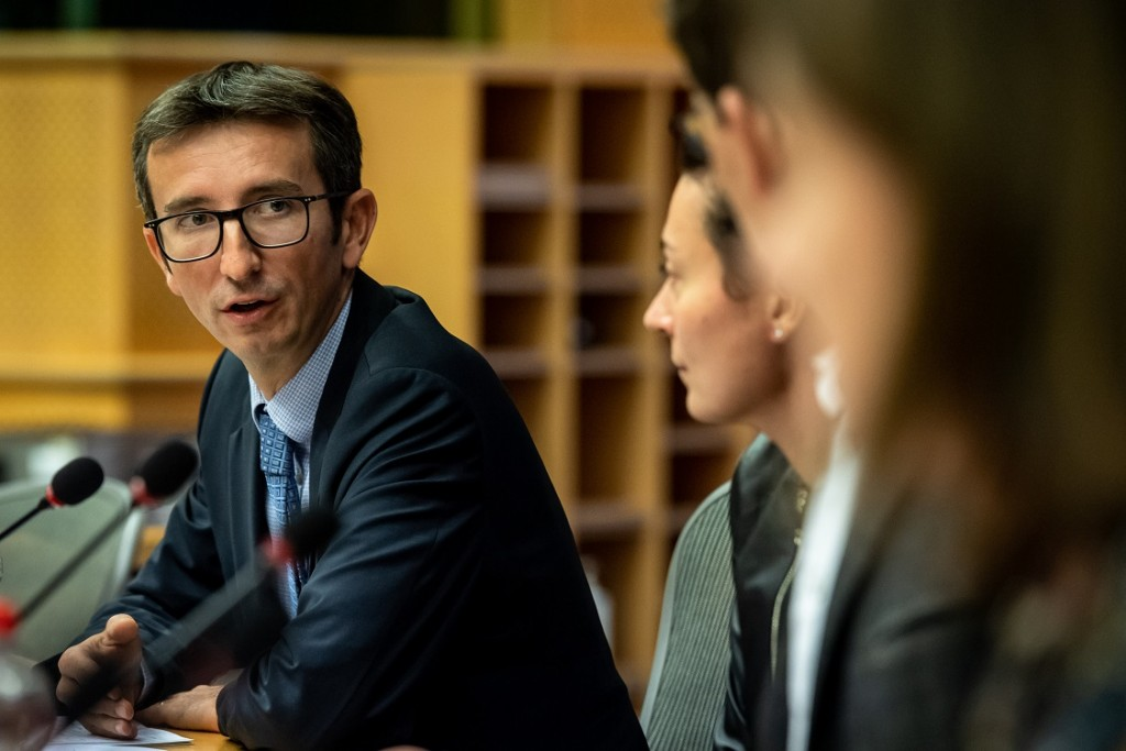 BELGIUM , BRUSSELS , NOV. 20, 2018 - GLOBE EU High Level Conference - Missing Links in the Evolution of Sustainable Finance - Martin Spolc , Flavia Micilotta , Bas Eickhout , Aila Aho & Joanna Cound Copyright Danny Gys