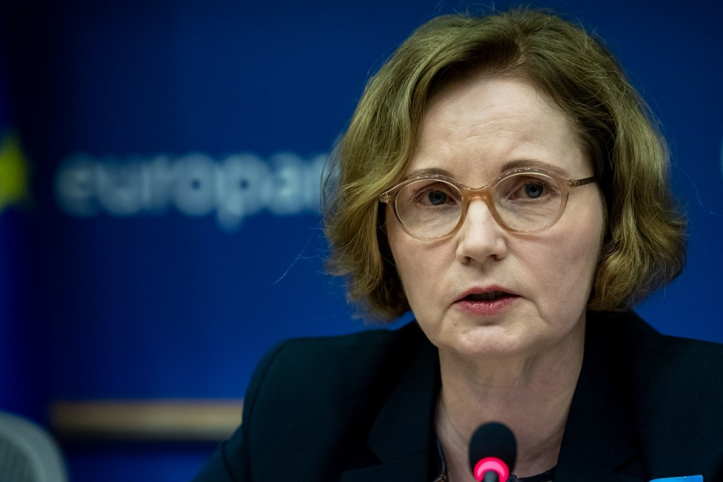 BELGIUM , BRUSSELS , NOV. 20, 2018 - GLOBE EU High Level Conference - Missing Links in the Evolution of Sustainable Finance - Aila Aho Copyright Danny Gys