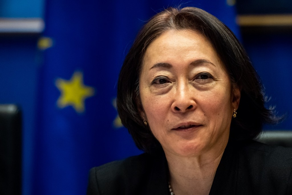 BELGIUM , BRUSSELS , NOV. 20, 2018 - GLOBE EU High Level Conference - Missing Links in the Evolution of Sustainable Finance - Mami Mizutori Copyright Danny Gys