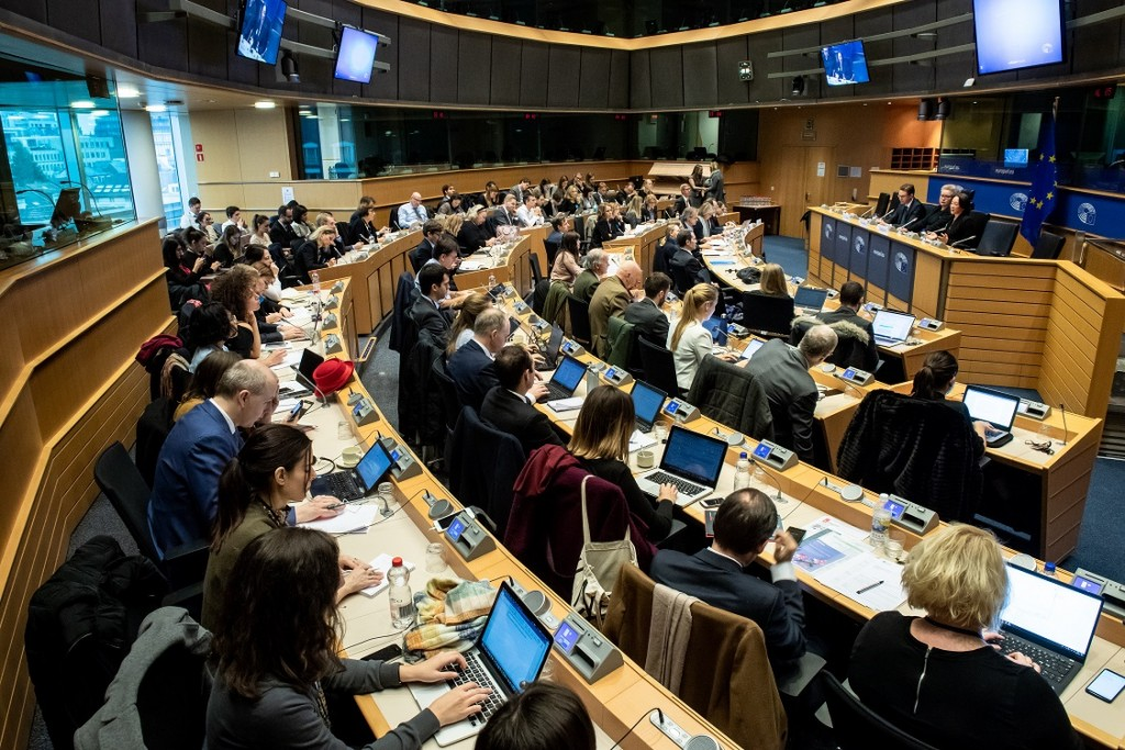 BELGIUM , BRUSSELS , NOV. 20, 2018 - GLOBE EU High Level Conference - Missing Links in the Evolution of Sustainable Finance Copyright Danny Gys