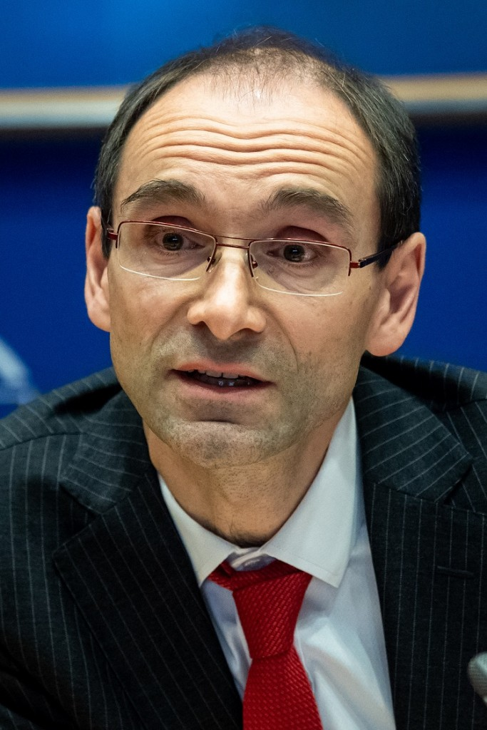 BELGIUM , BRUSSELS , NOV. 20, 2018 - GLOBE EU High Level Conference - Missing Links in the Evolution of Sustainable Finance - Sebastien Godinot Copyright Danny Gys