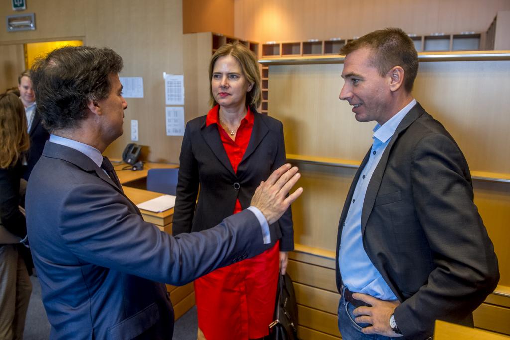 Fltr: José Inácio Faria MEP, Cora van Nieuwenhuizen, Benedek Javór MEP